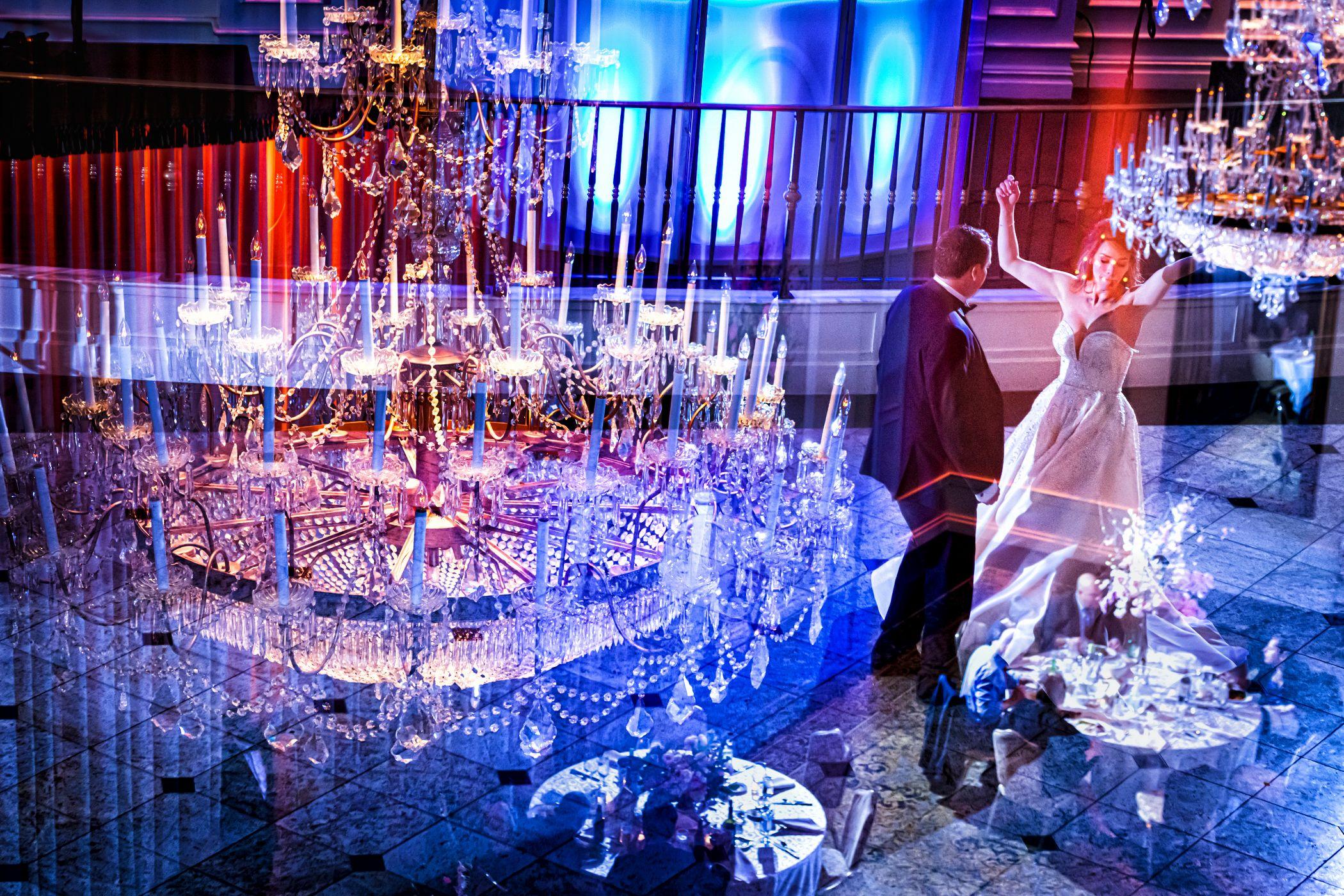 Wedding Dance In Double Exposure