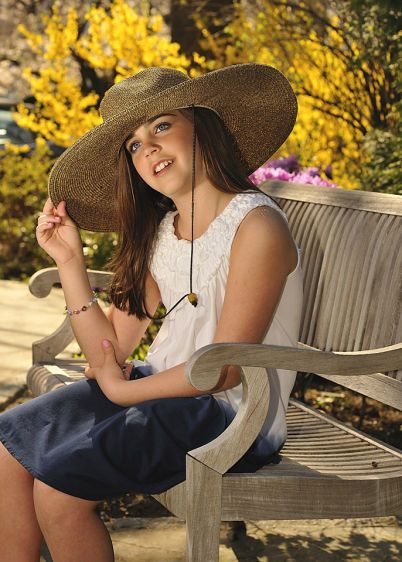 Scarsdale Bat Mitzvah Portrait With Sun Hat