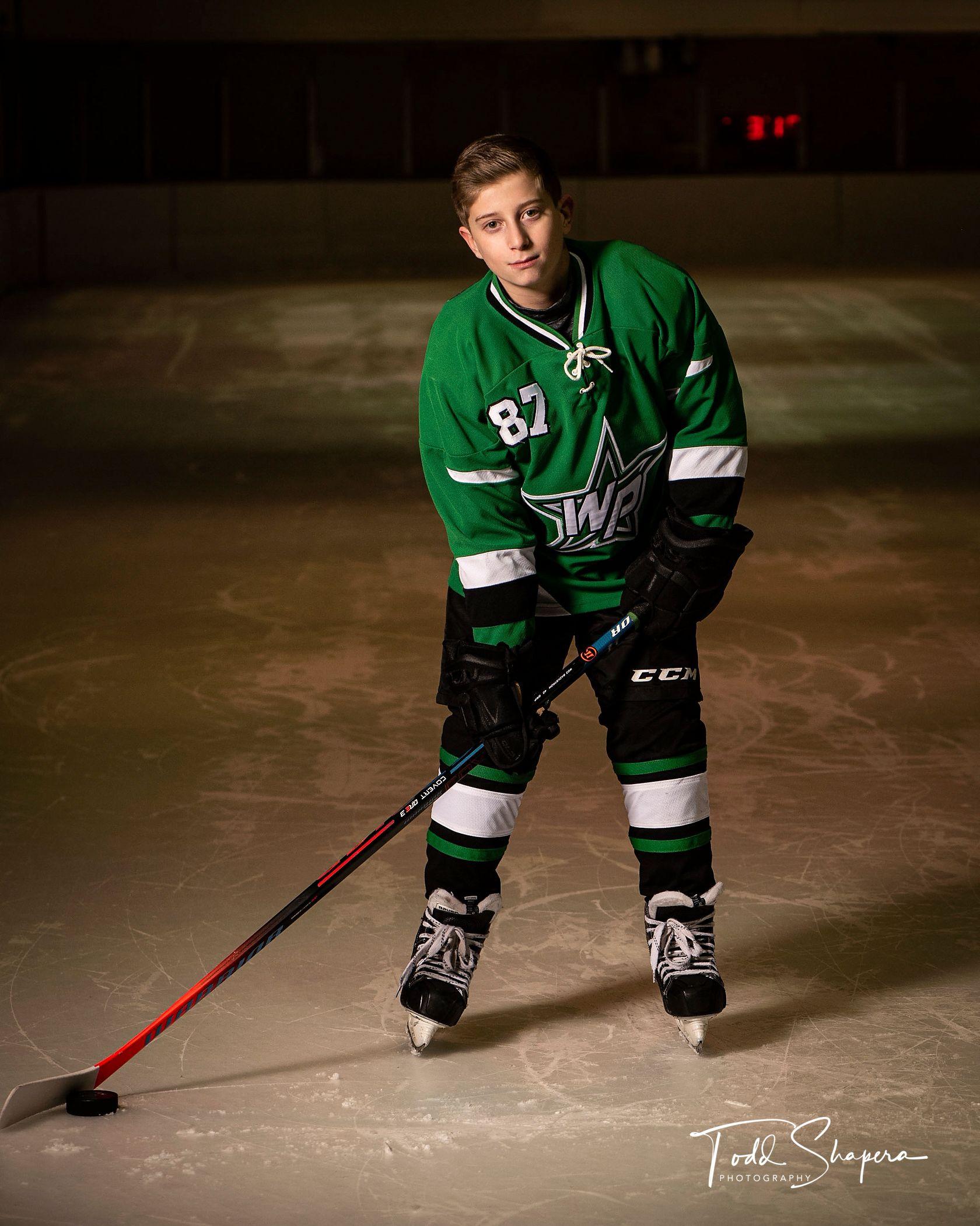 A Westchester  Pre-Bar Mitzvah Hockey Portrait