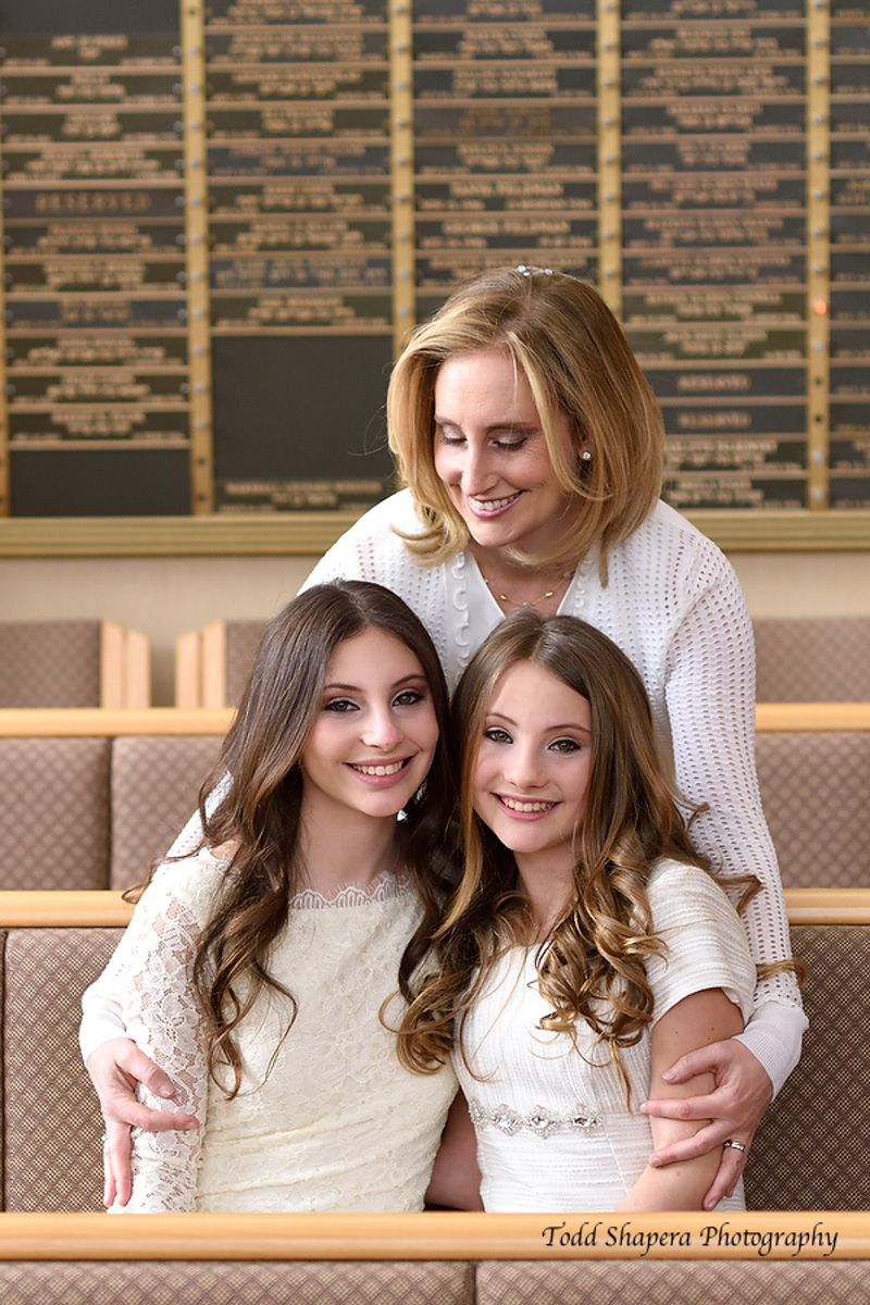 Bat Mitzvah Portrait With Mom