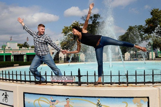 Rye Playland Engagement Photography