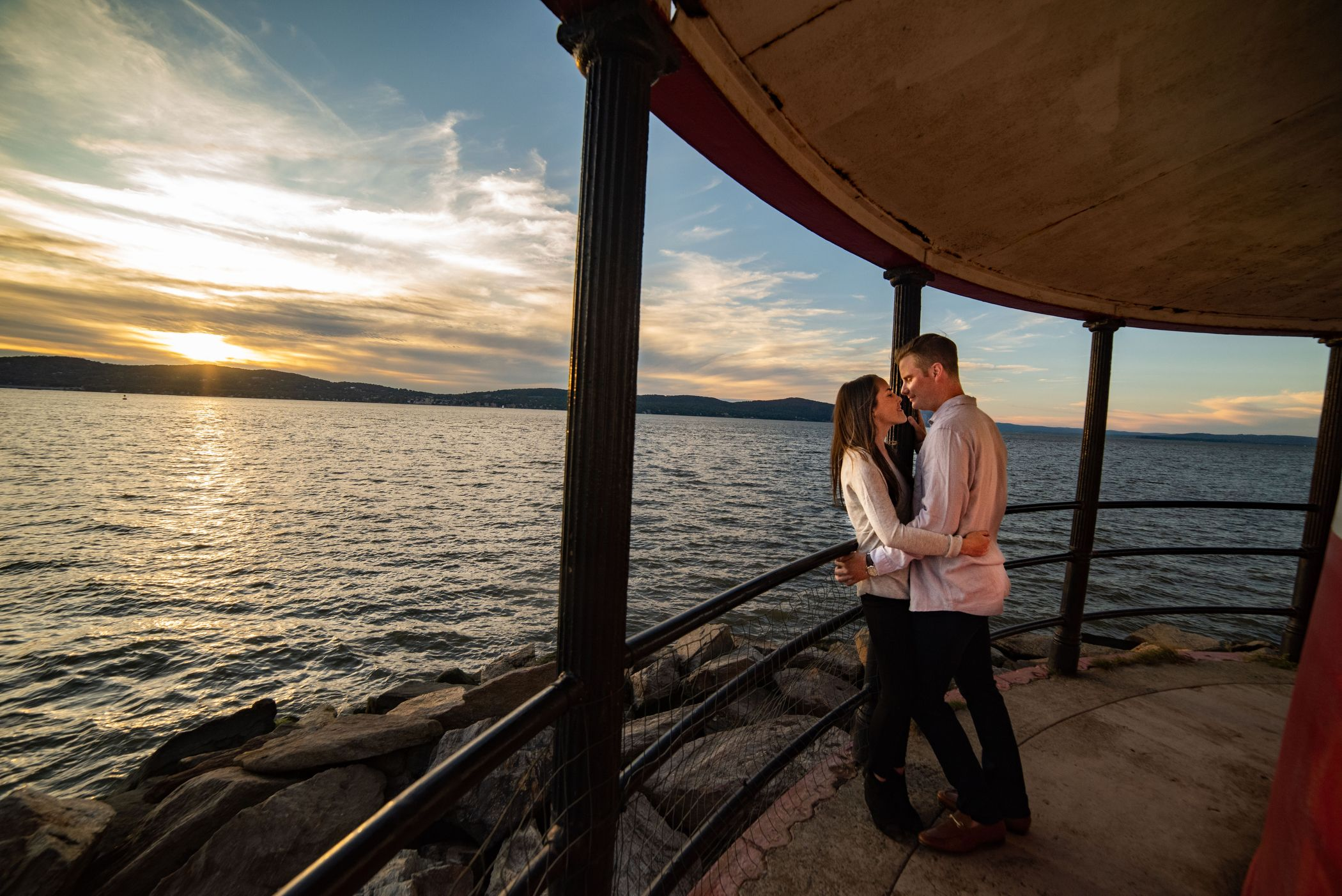 Sleepy Hollow Lighthouse Sunset Engagement