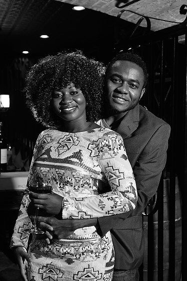 Engagement Photography In Black and White at Tarrytown House's Wine Cellar