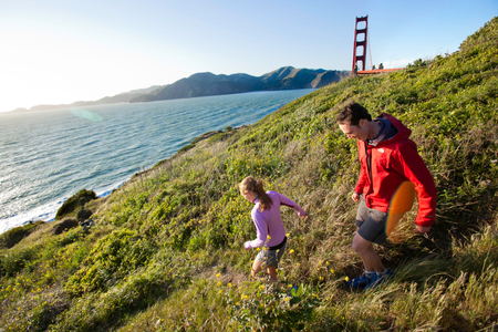Lizzy Martini & Nate Helming Trail Running San Francisco | Vance Jacobs Photographer