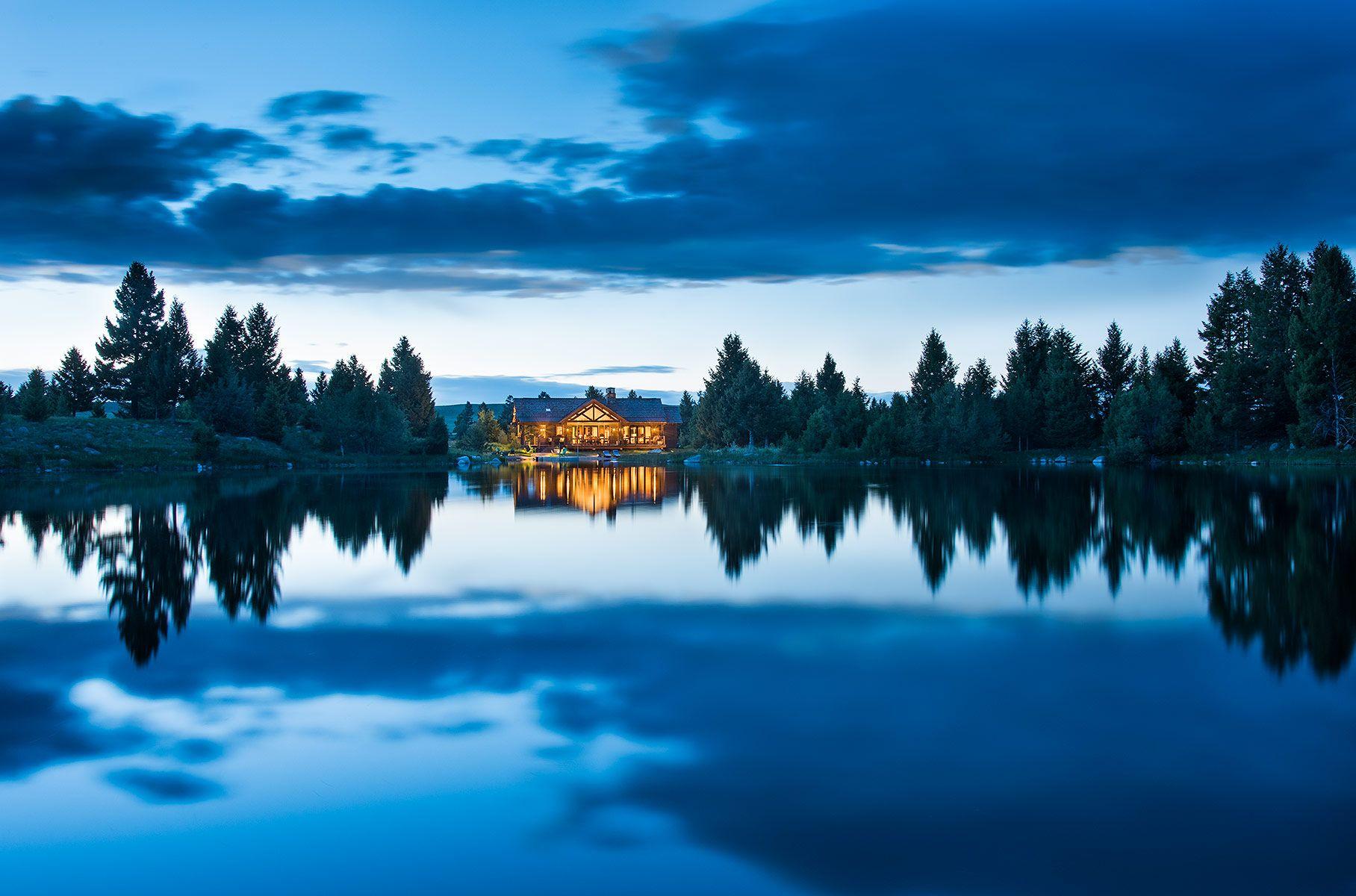 Dusk Reflection, Deer Lodge, MT