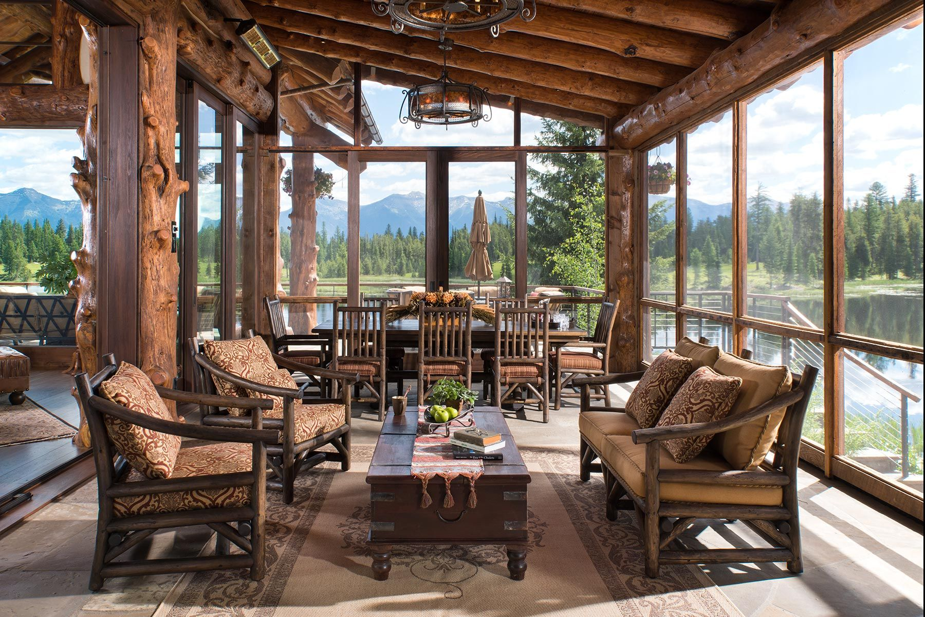Screened Porch, Swan Valley, MT