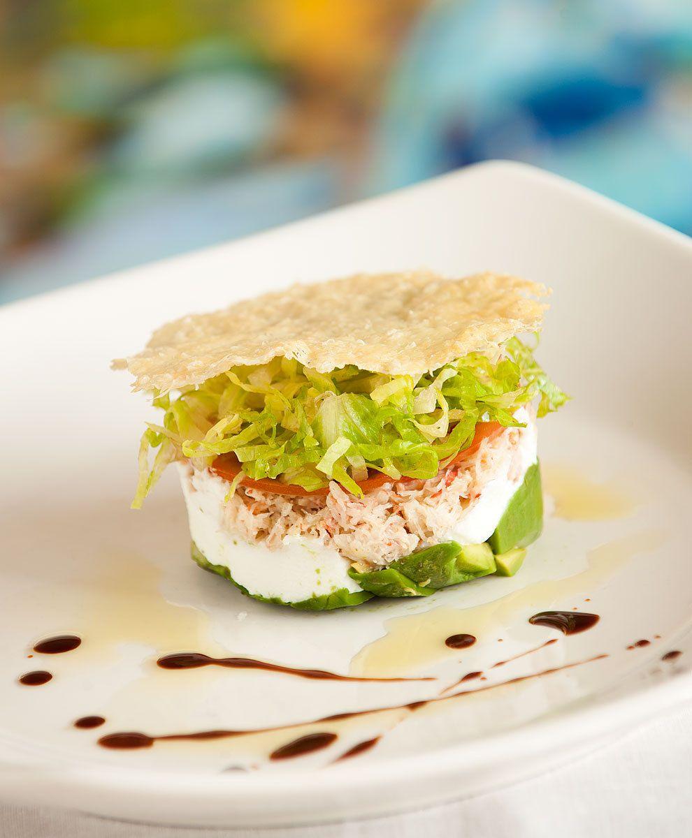 Crab Salad with Parmesan Crisp