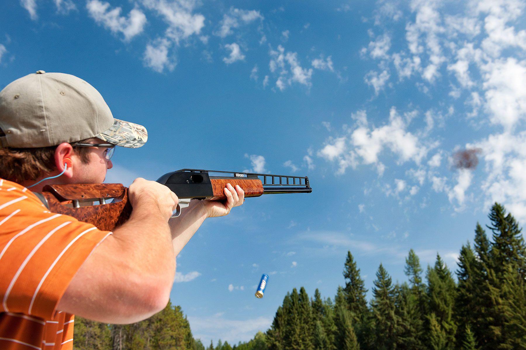Skeet shooting with Butler Arms shotgun