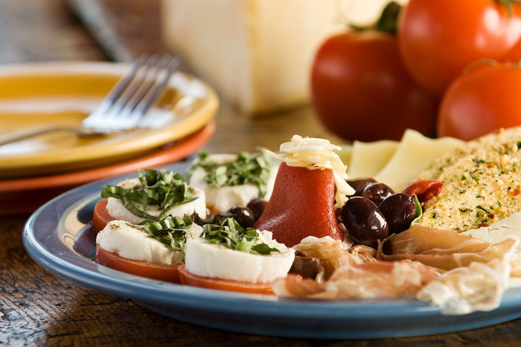 Fresh Mozzarella, Roasted Pepper & Tomato Salad