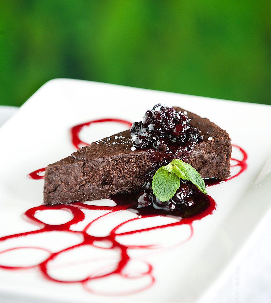 Flourless Chocolate & Huckleberry Torte