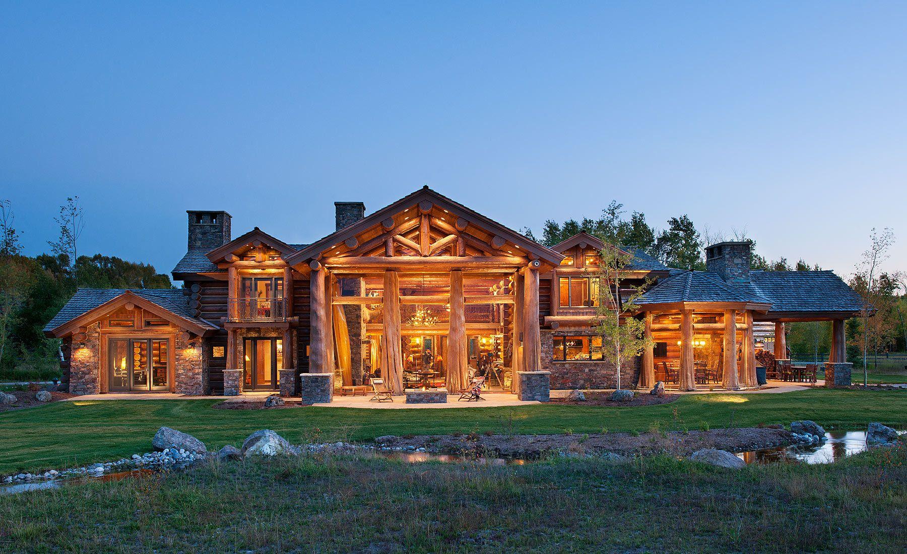 Flared Log Home, Jackson, WY
