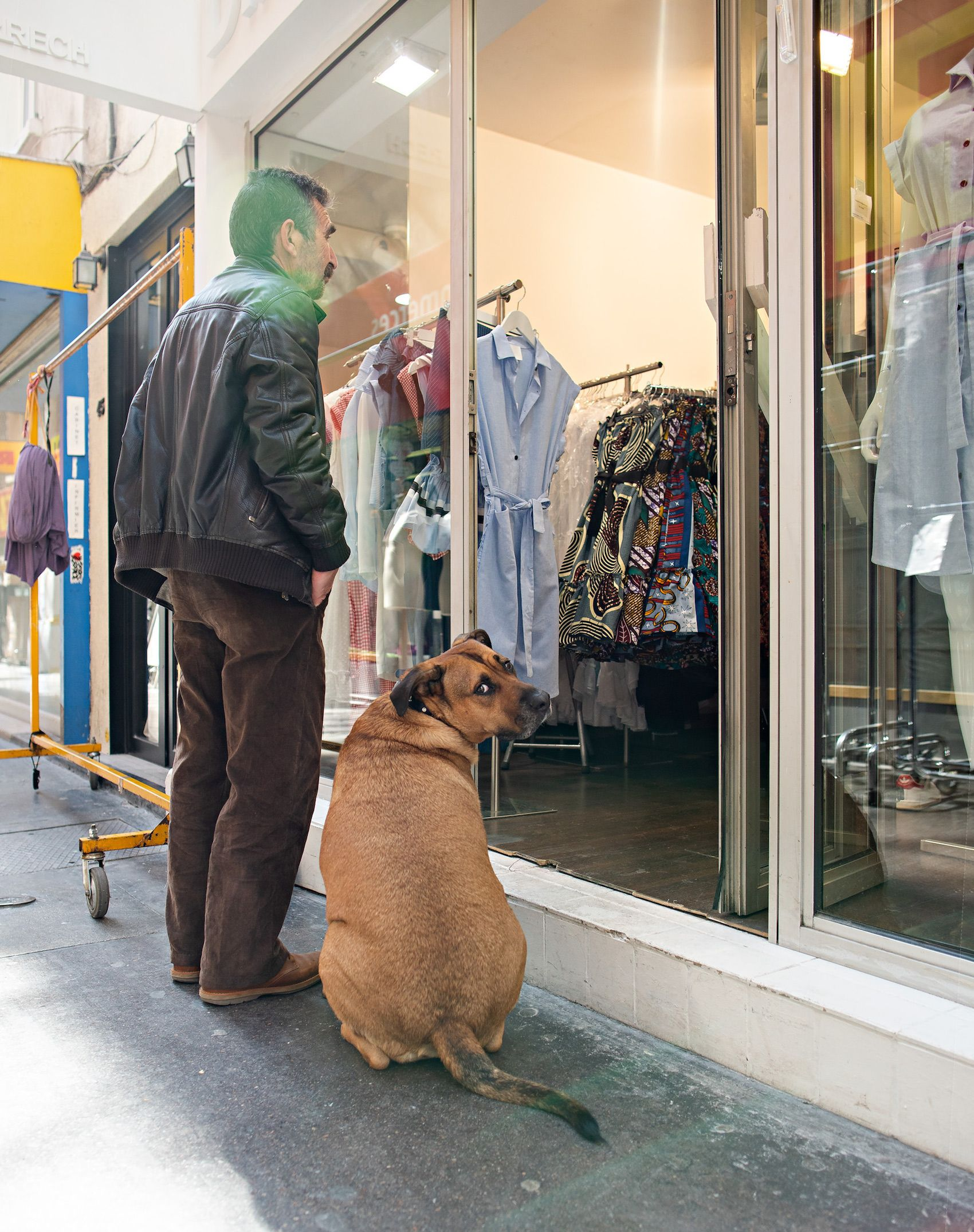 3132-Man-&-Dog-Shopping.jpg