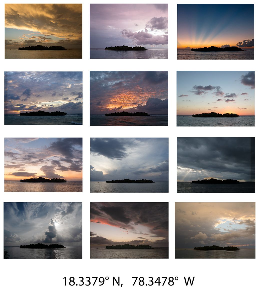 Twelve Sunsets Over Booby Cay