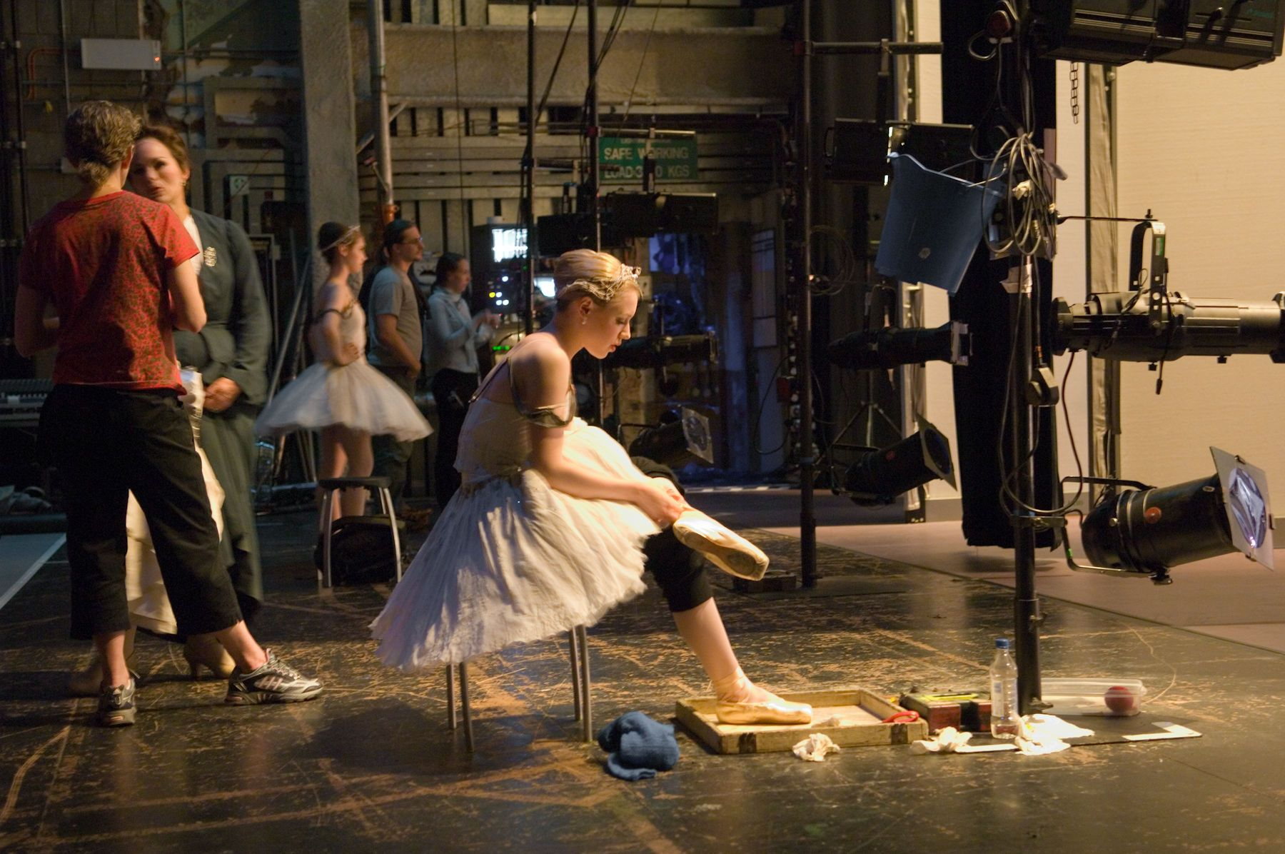 Ballerina Preparing for Performance