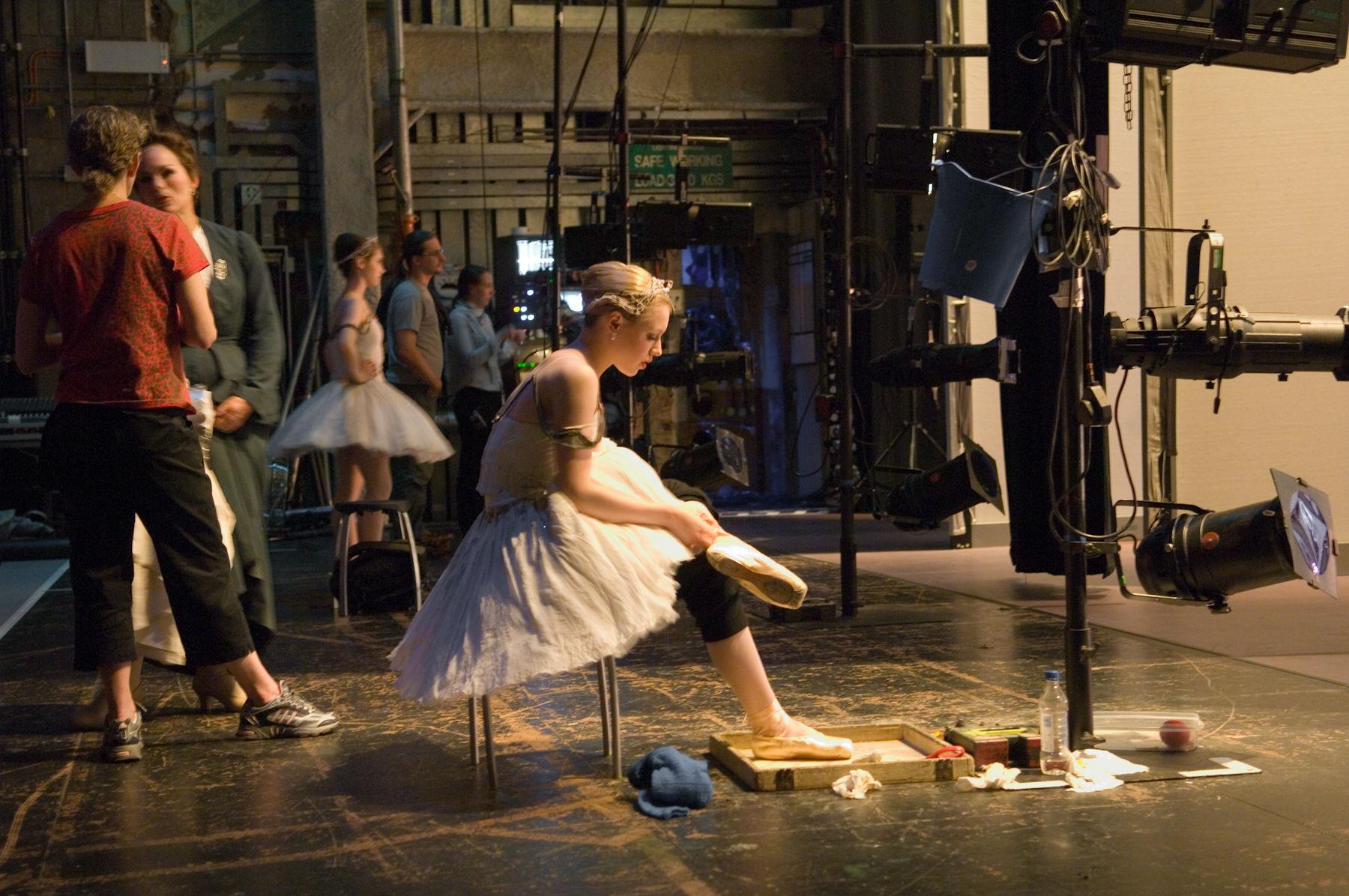 Ballerina Preparing for Performance