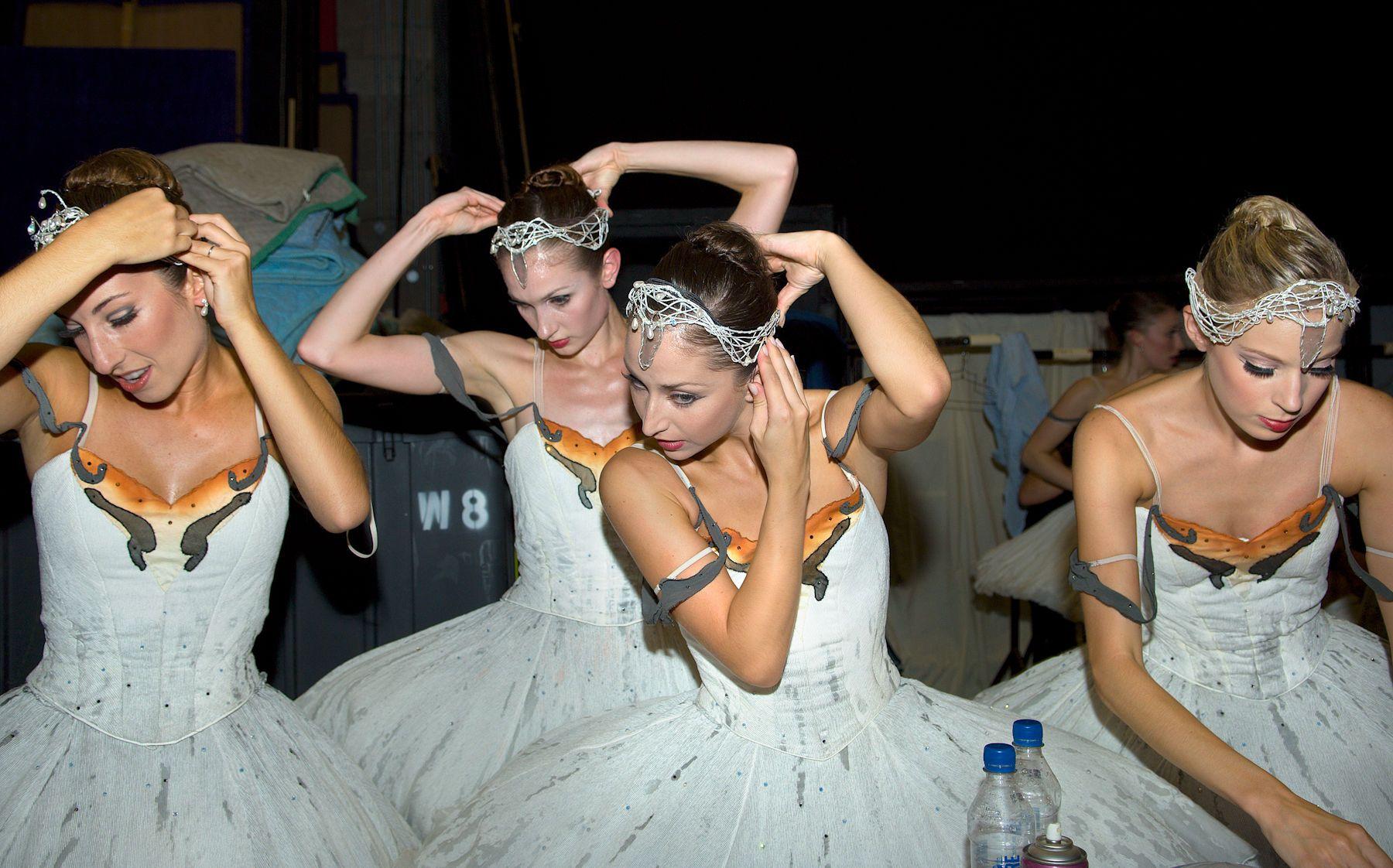 Ballerinas Preparing for Swan Lake