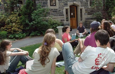 English Class in the Horace Mann Shakespeare Garden