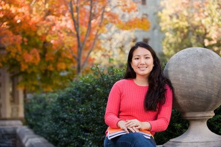 Environmental Portrait of Jennifer Poon Business Major at The University of Pennsylvania
