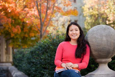 Environmental Portrait of Jennifer Poon Business Major at The University of Pennsylvania