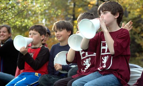 Young Homecoming Spectators