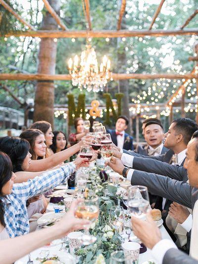 Forest Wedding Reception Dinner