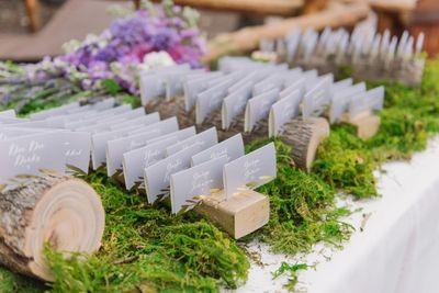 Log wedding escort card holder.jpg