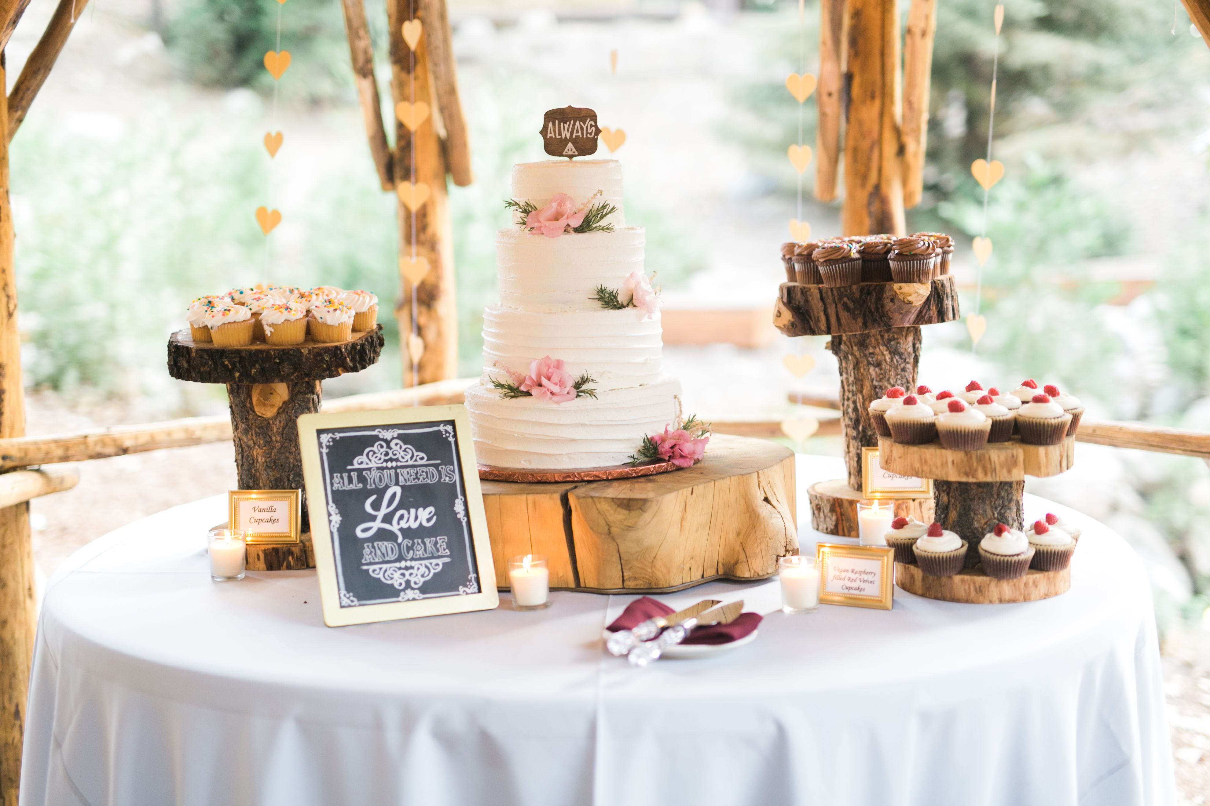 Cake Gazebo Pine Rose Forest Wedding