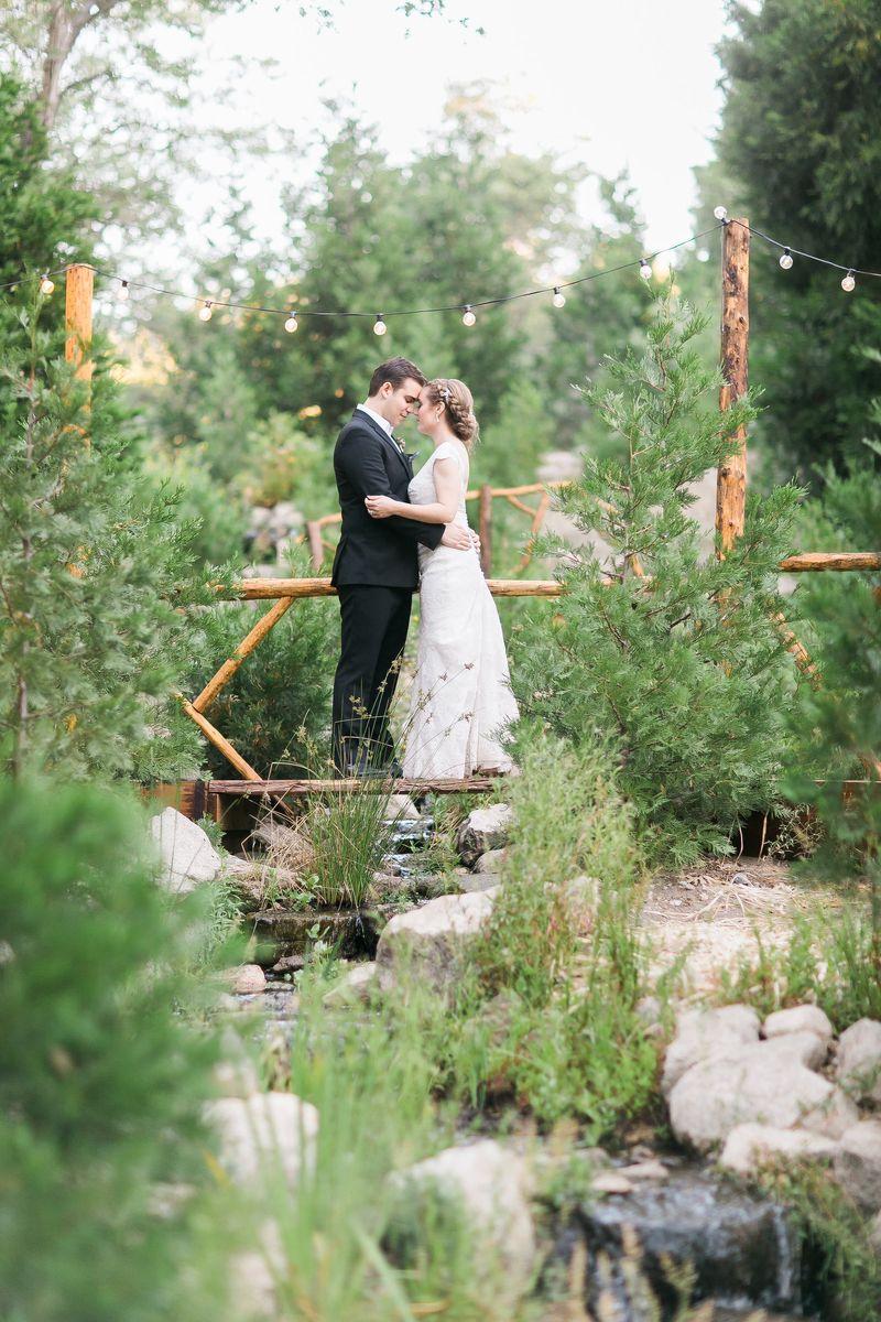 couple on small bridge