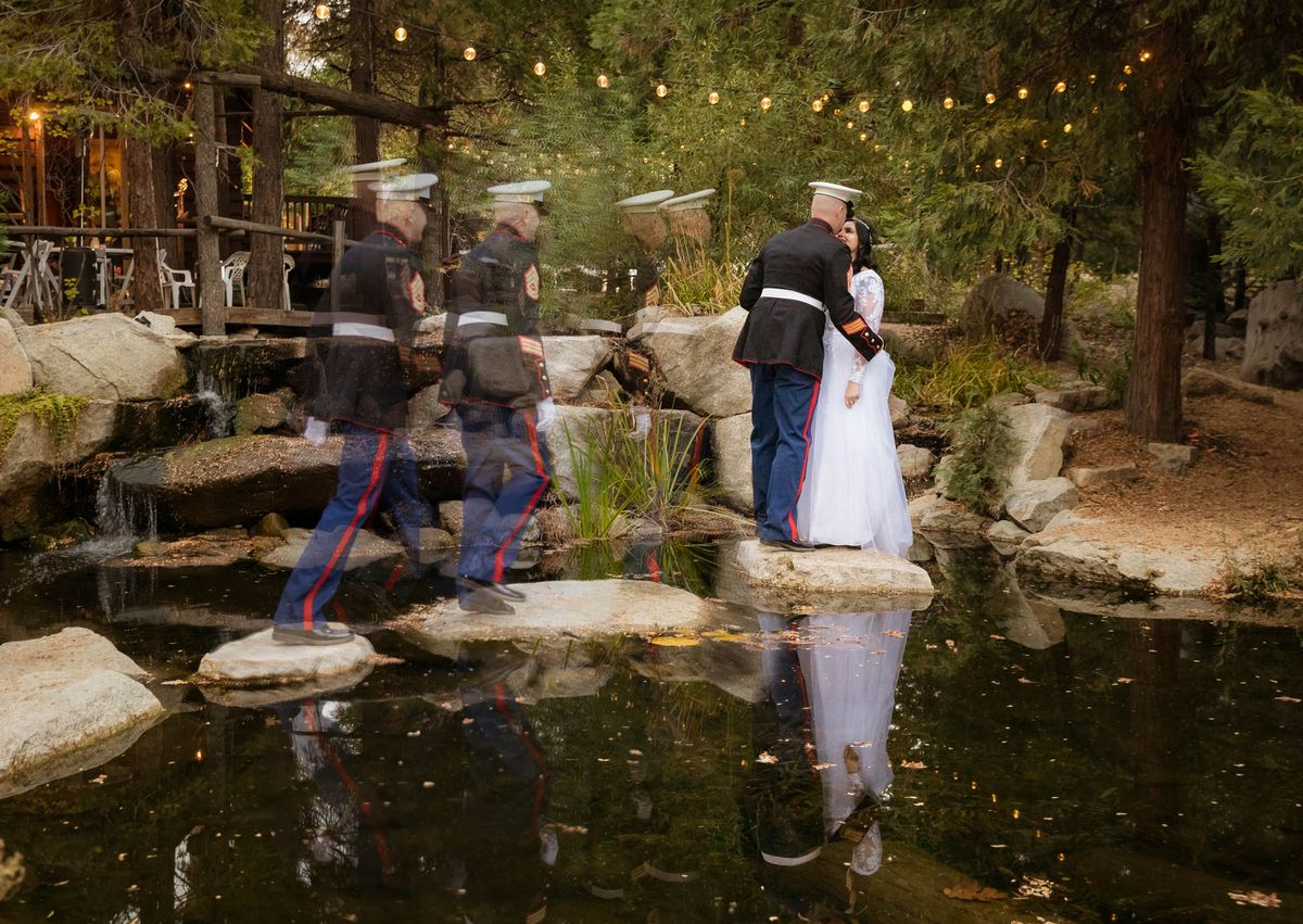 Cedar Creek Wedding Pond Reflection