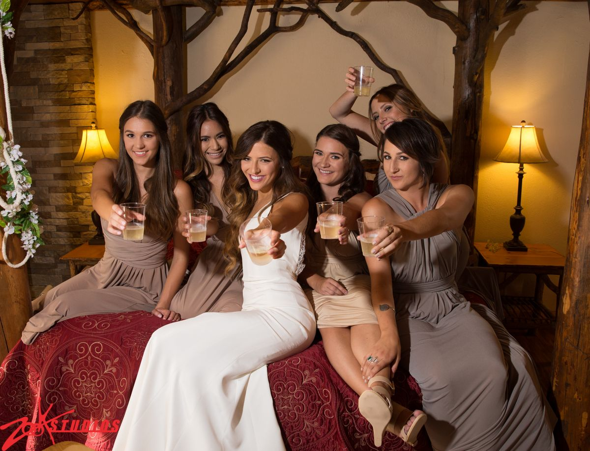 Bridesmaids at Hidden Creek Lodge