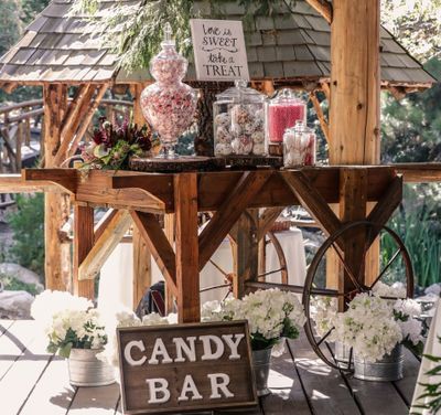Candy Cart Display at Hidden Creek