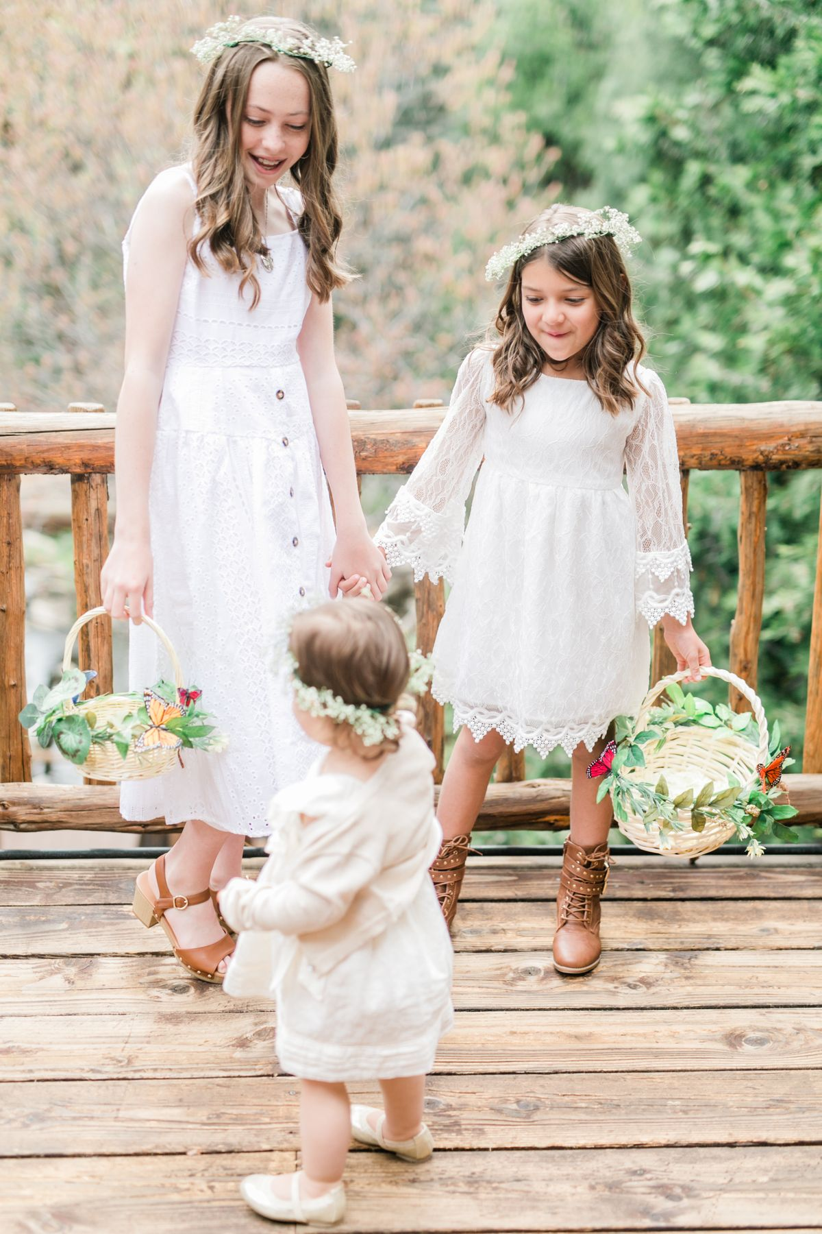 Flower Girls at Hidden Creek Lodge