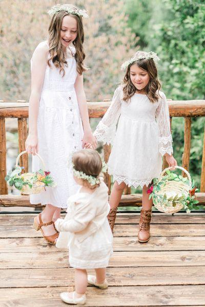 Flower Girls at Hidden Creek Lodge