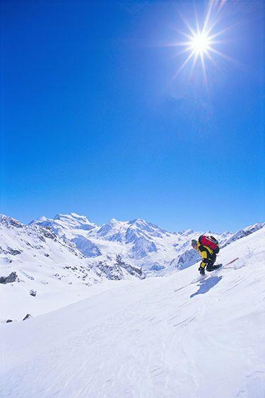Skiing the Haute Route in Switzerland and Sunburst