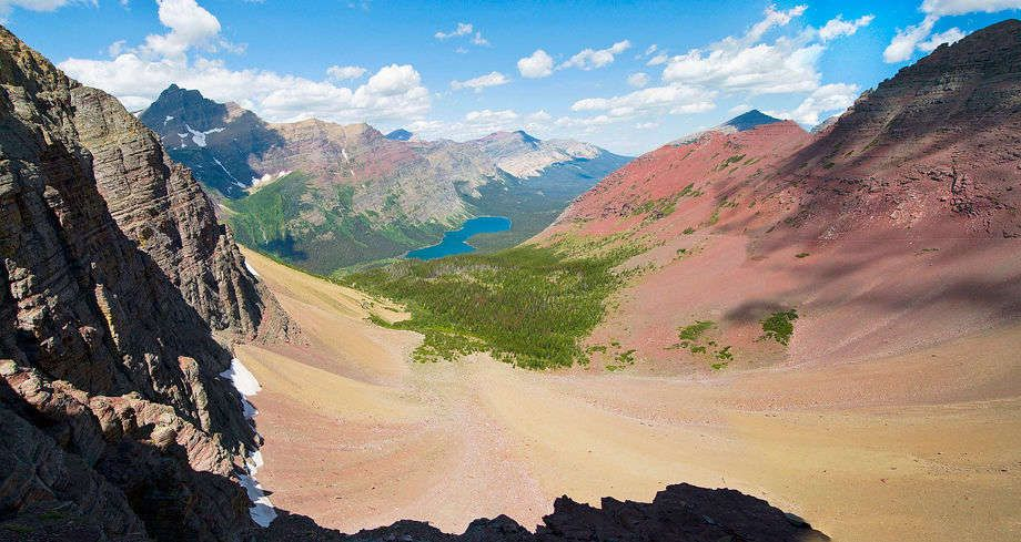 View from Ptarmigan Pass - Glacier National Park, Montana