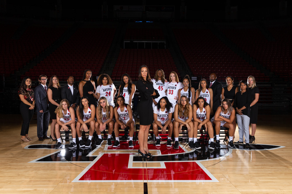 2018 San Diego State Women's Basketball Team Photography