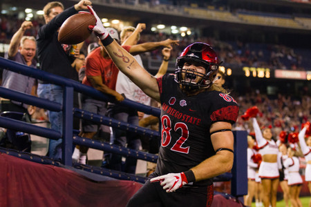 San Diego State Football Touchdown Celebration