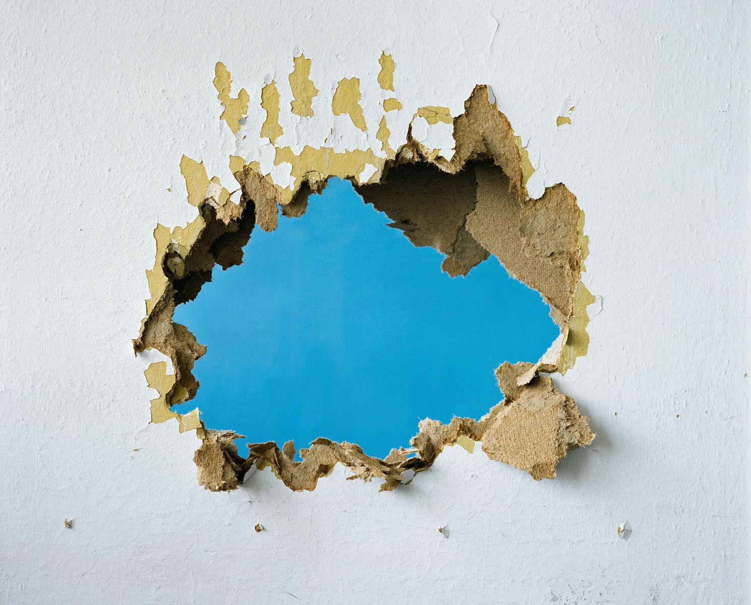 White, Ochre, Blue, 2009