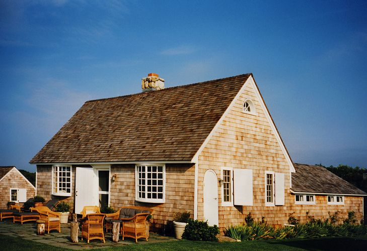 Exterior renovation of 3 oceanfront cottages: 80-acre Montauk estate