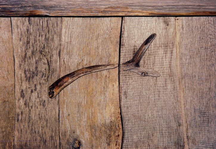 Handle detail: Driftwood sideboard