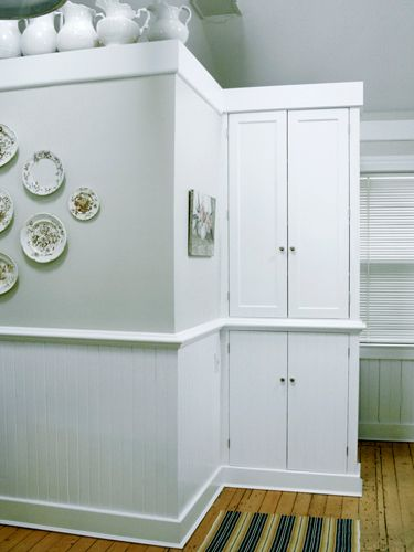 Kitchen trim and cabinets: Newtown Lane, East Hampton