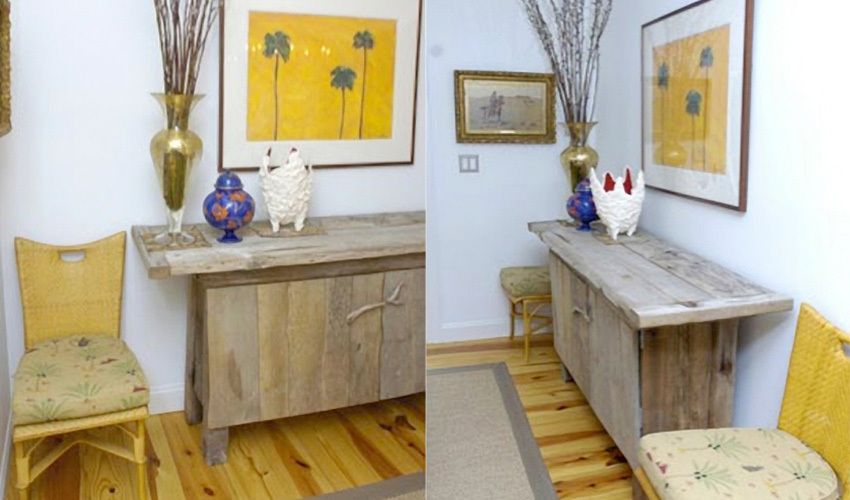 Driftwood sideboard. 2 views