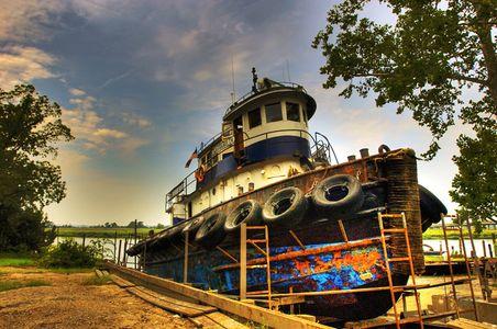 Tug Boat in Dry Dock