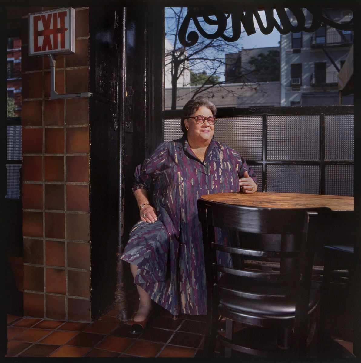 ELAINE KAUFMAN, OWNER, ELAINE'S RESTAURANT,  LITERARY HOT-SPOT