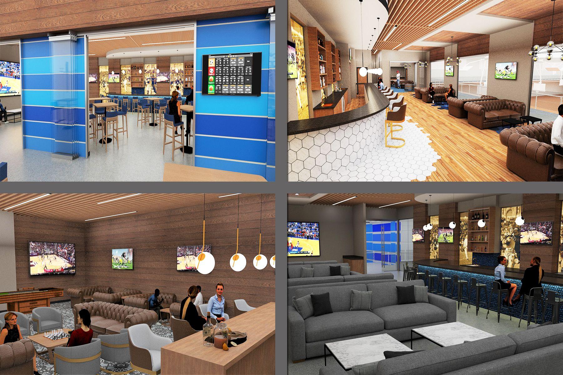 Sports Bar Lounge Design