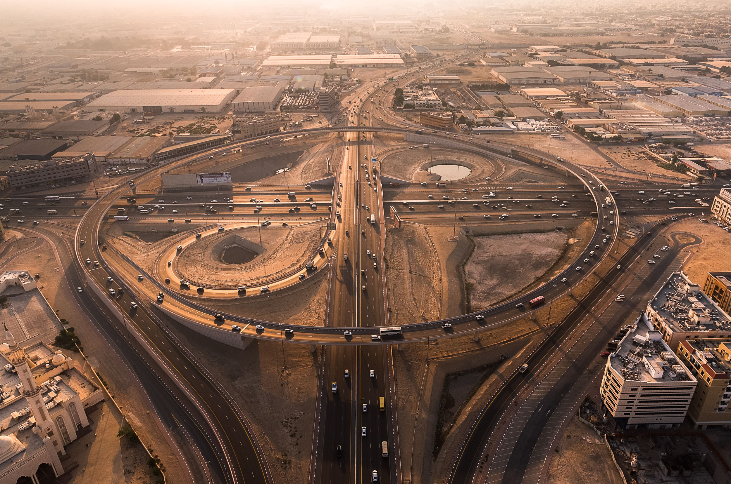 Sharjah Interchange at Sunset