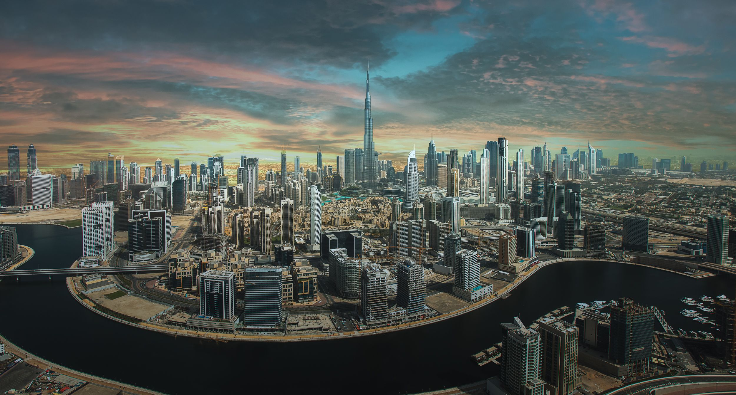 Dubai Skyline by Surface