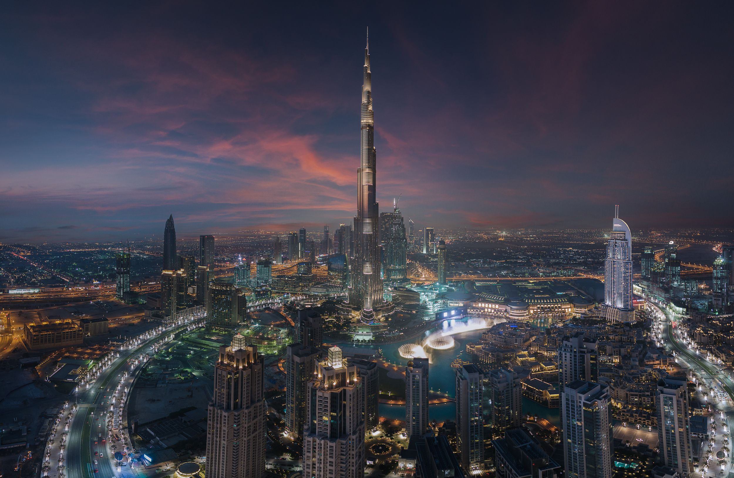 Dubai Skyline Pano  by Surface
