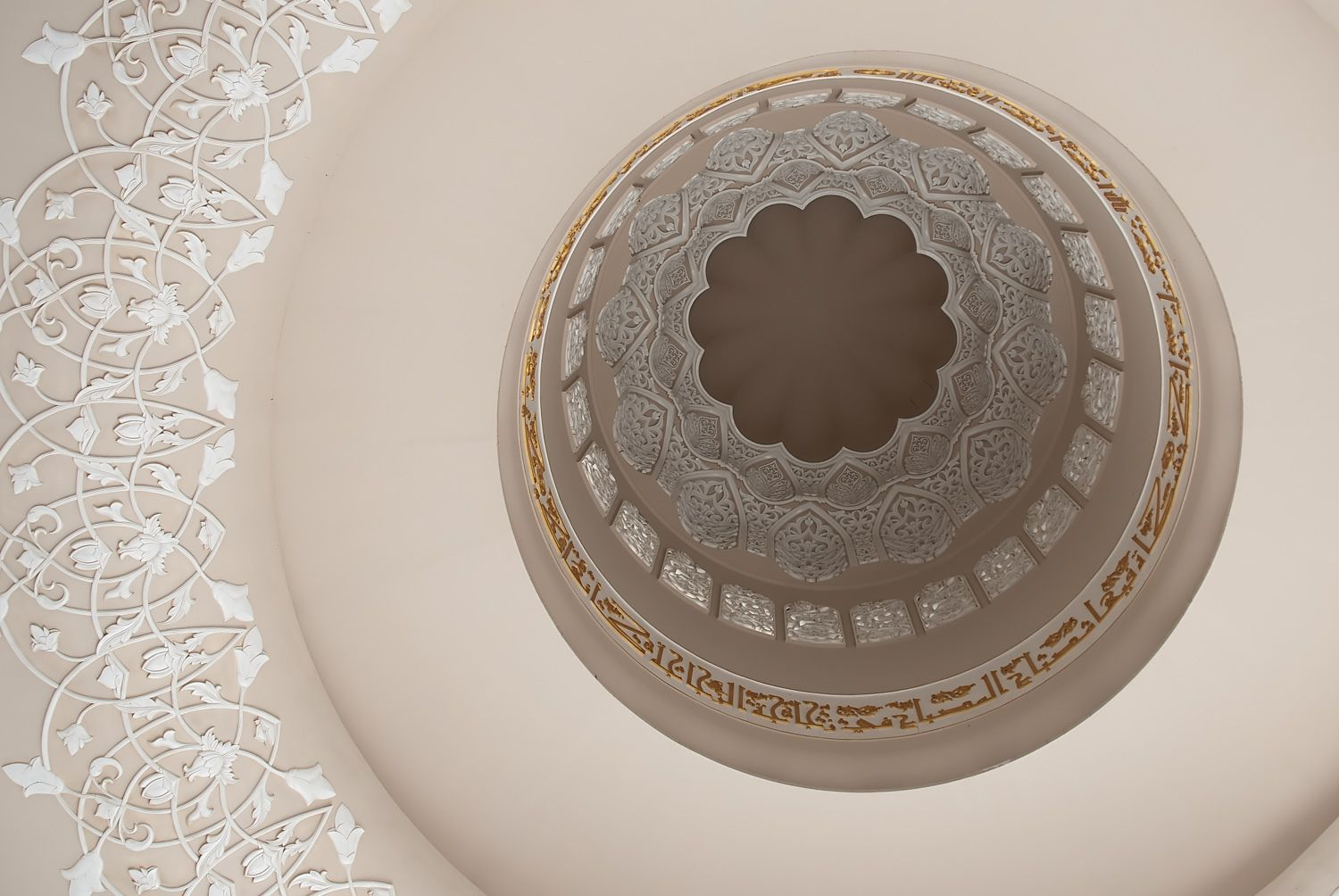Detail of Dome in Sheikh Zayed Mosque, Abu Dhabi