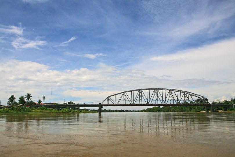 Magsaysay Bridge on the Agusan River, Mindanao